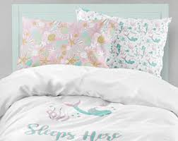 Comforters For Toddler Beds Mermaid Bedding Etsy