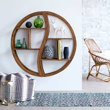 teak shelving ying yang bookcase sale at tikamoon