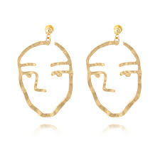 earrings studs fashion jewelry retro earrings studs gold abstract