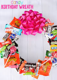 candy wreath candy wreath for birthdays squared