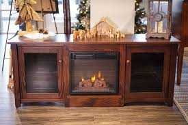 flint electric fireplace tv stand from dutchcrafters amish furniture