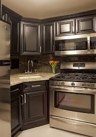 Best Small Kitchens Images On Pinterest Pictures Of Kitchens - Kitchen photos dark cabinets