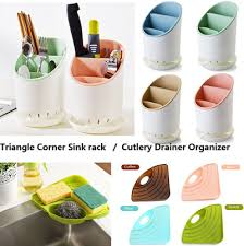 Kitchen Sink Soap And Sponge Holder by Qoo10 Kitchen Sink Rack Sponge Soap Holder Triangle Corner Rack