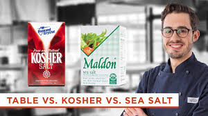 what s the difference between table salt and sea salt what s the difference between kosher salt table salt and sea salt
