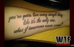 misspelled nickelback quote tattoos