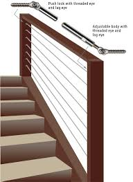 Cable Banister Wiserail Deck Cable Railing Kits Stainless Steel Deck Cable Railing