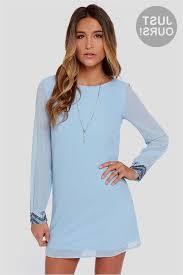 light blue shift dress light blue dresses with sleeves naf dresses