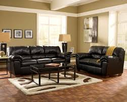 furniture black faux leather sofa with rectangular coffee table