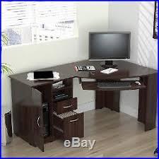 Corner Laptop Desk Computer Desk Drawer Shelf Laptop Table Keyboard Tray Student