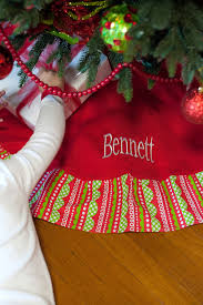 christmas skirt personalized christmas tree skirt in 5 pattern options