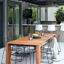 Teak Outdoor Dining Table And Chairs Long Black Outdoor Dining Table Design Ideas