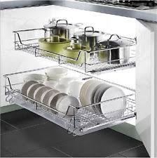 High Line Kitchen Pull Out Wire Basket Drawer Under Cabinet Kitchen Drawers Drawer Kits Ebay