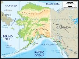 Physical Map Of The United States by Physical Map Of Alaska Ezilon Maps