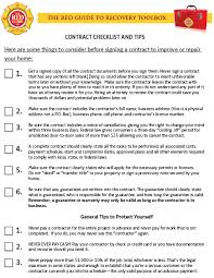 home improvement contract checklist the red guide to recovery