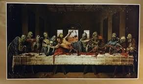 zombie last supper giant wide size 42 x 24 print