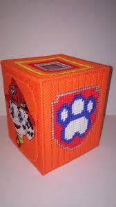 marshall tissue box cover puppy power box plastic canvas box