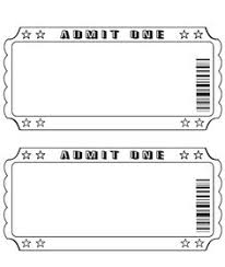 ticket template ticket templates diy outdoor backyard theater