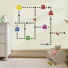 wall decal pacman wall decals gamer s room ideas pacman wall pacman wall decals pacman wall decal on a nursery wall