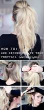 Show Pony Hair Extensions by How To Add Extensions To Your Ponytail Twist Me Pretty