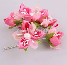 satin ribbon flowers 72pcs 4cm artificial bouquet flowers satin ribbon flowers for
