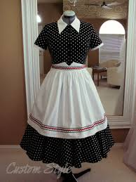 i love lucy black u0026 white polka dot dress with apron lucille