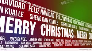 merry christmas scrolling languages stock animation