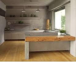 small modern kitchen interior design classic decoration with wood table and flooring for small modern