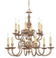 12 Light Chandeliers Crystorama Crystorama Novella 12 Light Olde Brass Chandelier