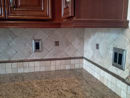 What Is A Backsplash In Kitchen Stacked Stone Backsplash With Dark Cabinets Home Design Ideas