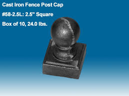 58 2 5l ornamental iron fence post caps cast iron ironworks