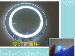accessories for bathroom decoration using led white lighted round