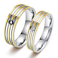 color wedding rings images Stripe gold color wedding rings for lovers inlaid cubic zirconia jpg