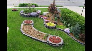 Small Garden Bed Design Ideas Garden Front Of House For Small Space