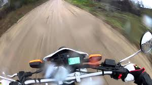 out riding the 2013 xt250 yamaha in the rain youtube