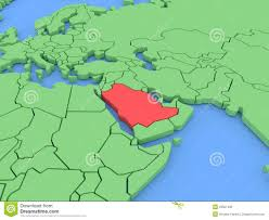 Arabia Map Three Dimensional Map Of Saudi Arabia Isolated 3d Stock