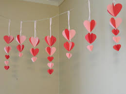 valentines decorations items similar to s decorations paper heart garland