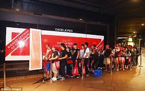 david jones s boots sale boxing day sales hungry shoppers race through the doors at