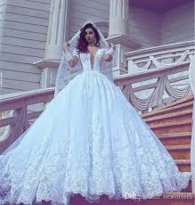 wedding gowns discount 2017 white wedding dresses sheer sleeve