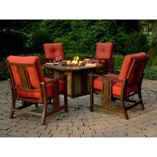 Patio Furniture With Fire Pit Costco - agio international wessington 5 pc firepit chat set shop your