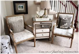 chic on a shoestring decorating living room makeover on a budget chic on a shoestring decorating blog marias arm chair