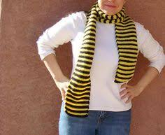 coffin scarf for men or women grey gray and black striped scarf