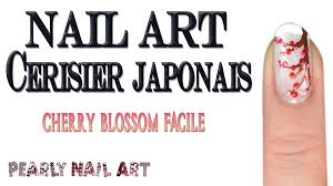 Peinture Cerisier Japonais by Tuto Nail Art Cerisier Japonais Facile Cherry Blossom Nail