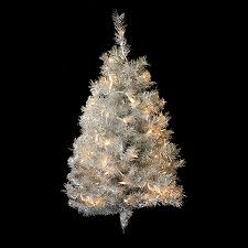 lowes artificial christmas trees with lights shop northlight 3 ft pre lit tinsel artificial christmas tree with