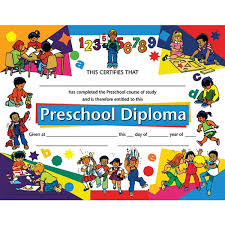 preschool certificates preschool diploma teachers students end of the year a