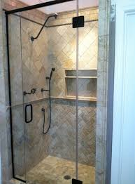 frameless shower door in rubbed bronze kerabath