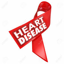 ribbon with words heart disease awareness ribbon with 3d words to illustrate and