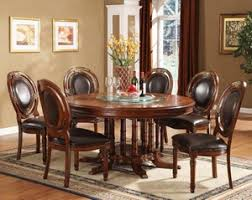 Williams PC Set Cherry Round Wood Dining Table And  Chairs - Round kitchen table sets for 6