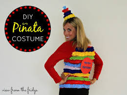 easy last minute diy halloween costume piñata view from the