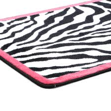 Pink And White Area Rug by Pink Zebra Rug Roselawnlutheran