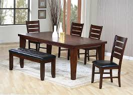 Large Oak Kitchen Table by Kitchen Wooden Bench With Black Leather Seat Large Wood Dining